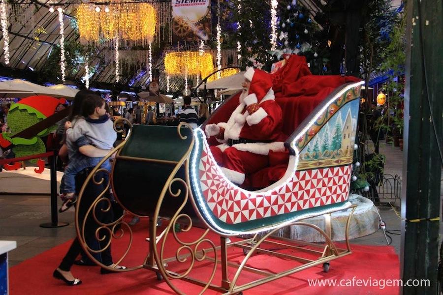Onde encontrar o Papai Noel no Natal Luz