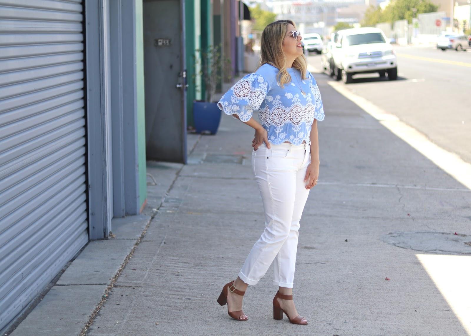 cabi white slimmy jeans, cabi white jeans, cabi white denim, target brown heels