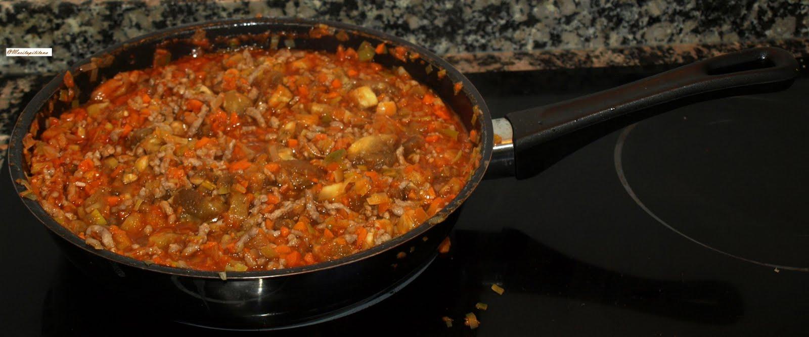 Cocinar es vivir y bordar tambi n berenjenas rellenas de for Cocinar 180 grados