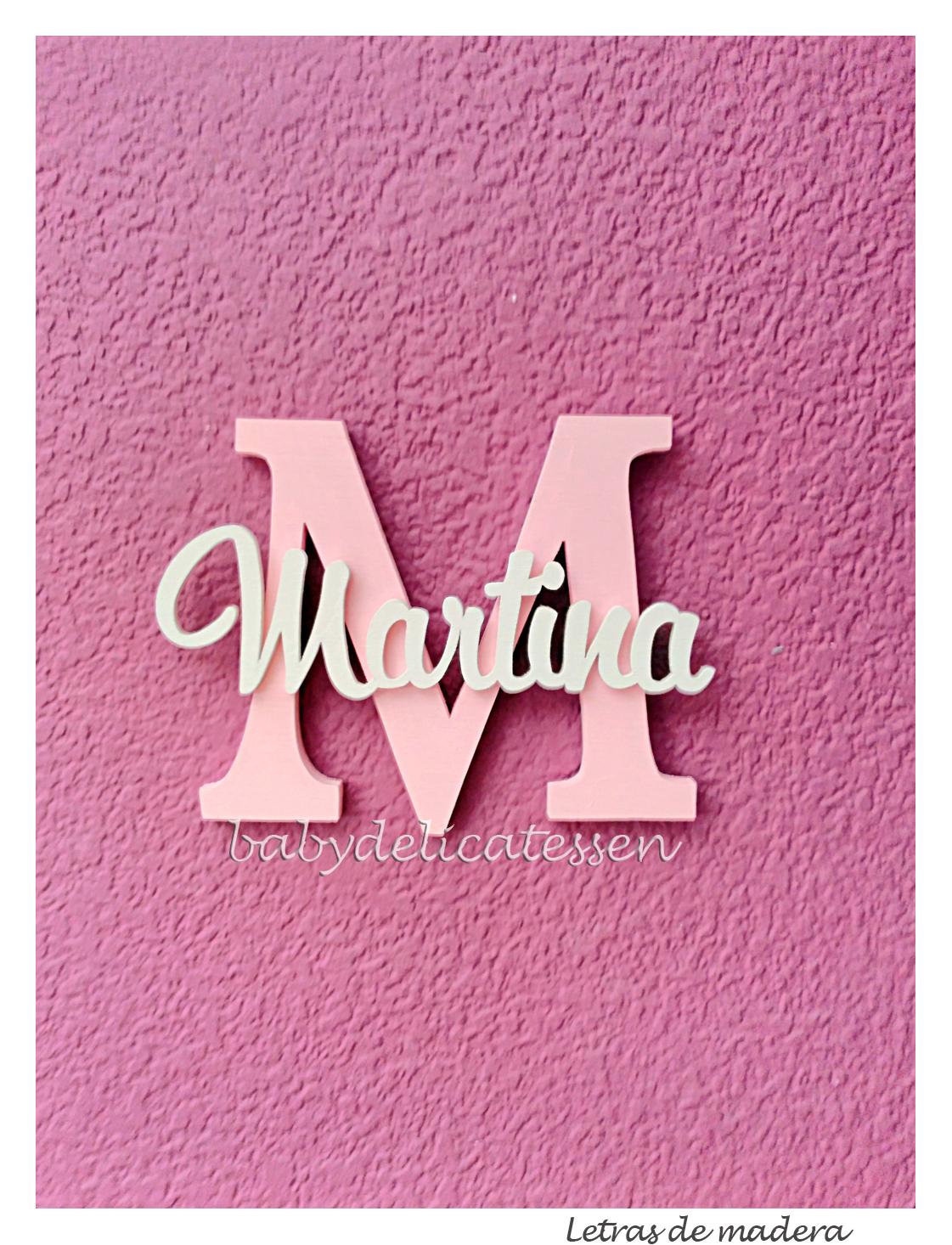 Baby delicatessen la habitaci n de martina - Letras en madera ...