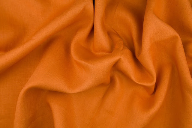 Pumpkin Handkerchief Linen Fabric