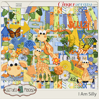 Creative Team, Annemarie, for GingerScraps – Buffet Goodies for April (Save 50%) - I Am Silly Bundle by Scraps N Pieces and Coordinating Freebie