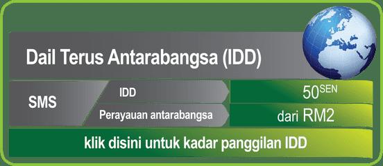 ONEXOX Kadar Panggilan Antarabangsa (IDD)