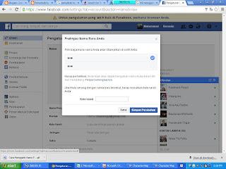 Trik mengganti nama facebook dengan font unik