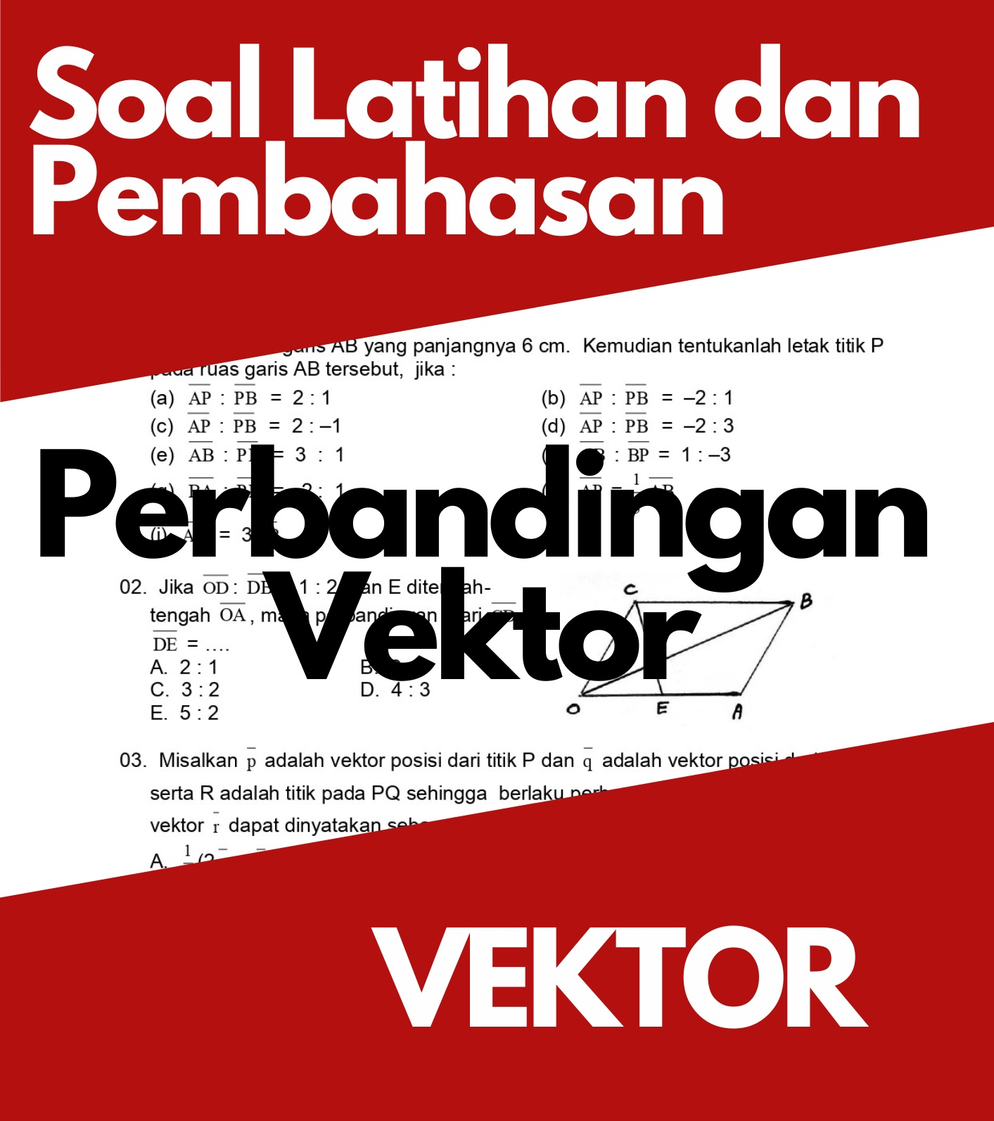 Matematika Dasar SMA: Soal Latihan dan Pembahasan Tinjauan Analitis Vektor