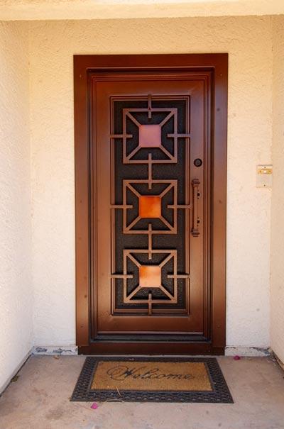 Fotos de puertas for Puertas de herreria para casa