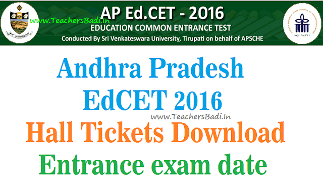 AP EdCET,Hall Tickets,Entrance exam date 2016