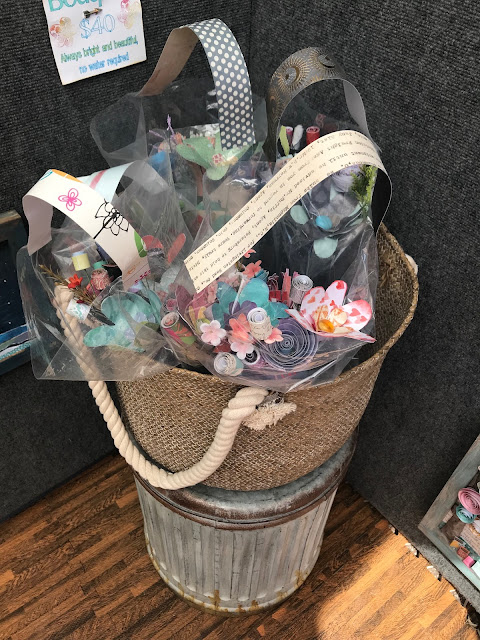 bouquets of paper flowers