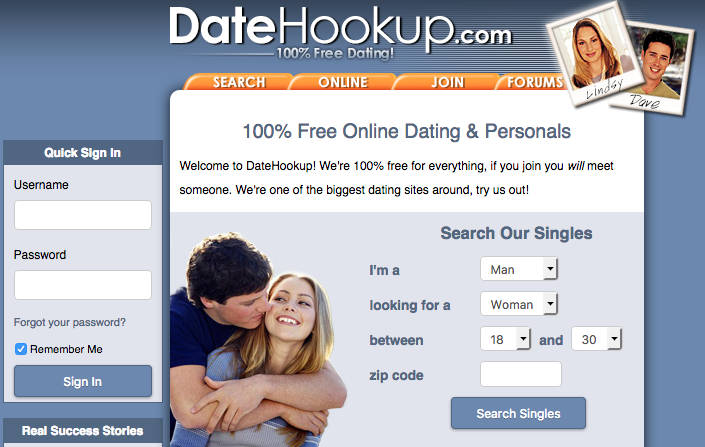 date hookup sign in