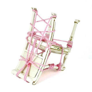 miniature rope bondage chair white pink