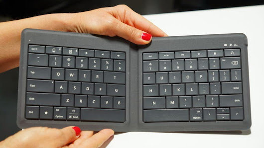 Microsoft Presents Folding Keyboard that Supports All Mobile Device