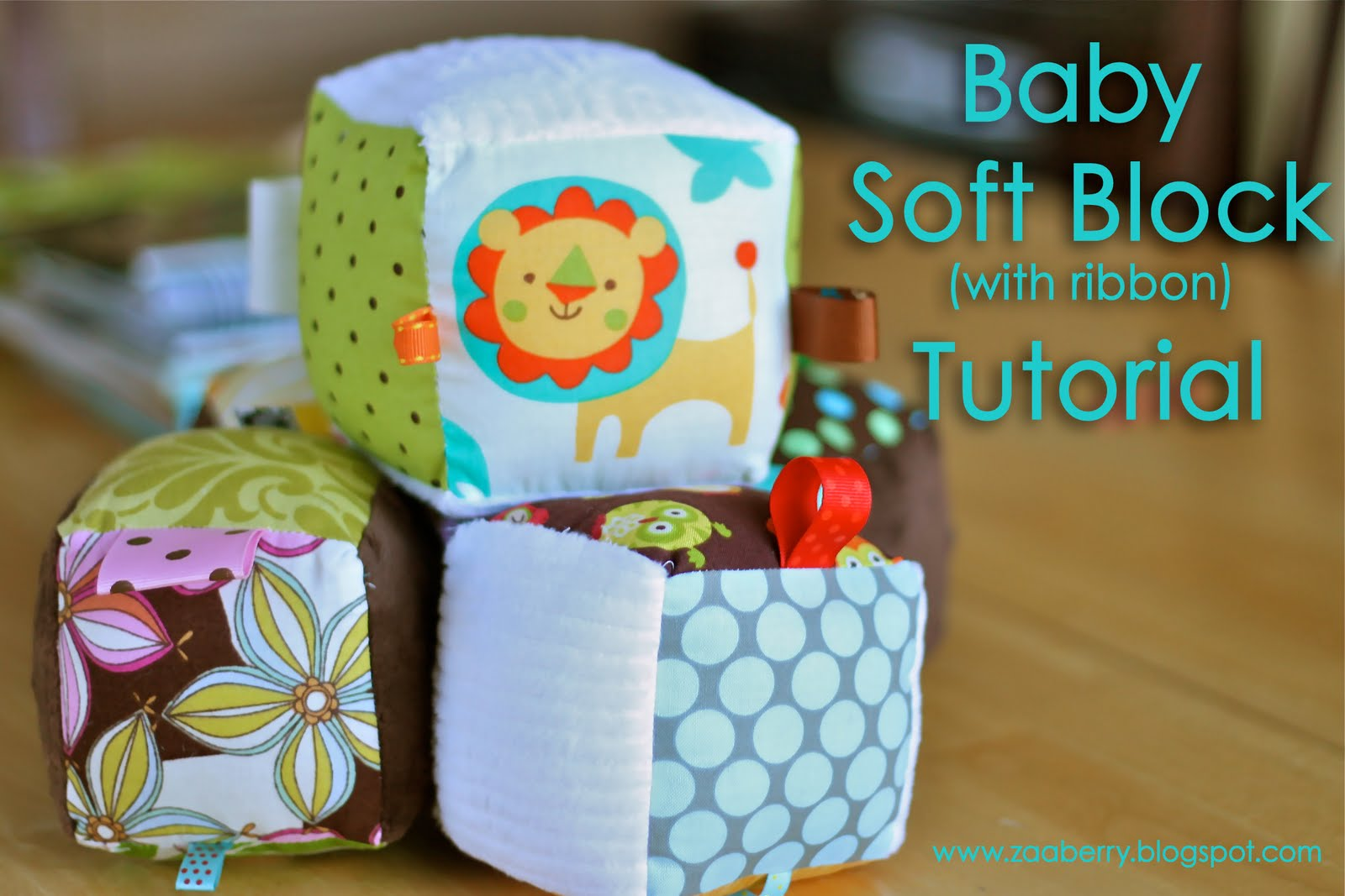 Zaaberry Baby Soft Block With Ribbon Tutorial
