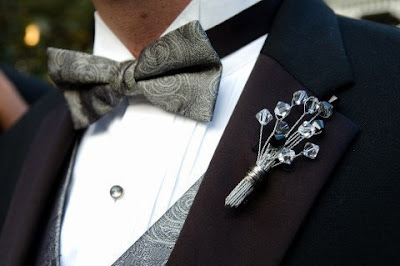 Crystal Boutonniere for the Groom