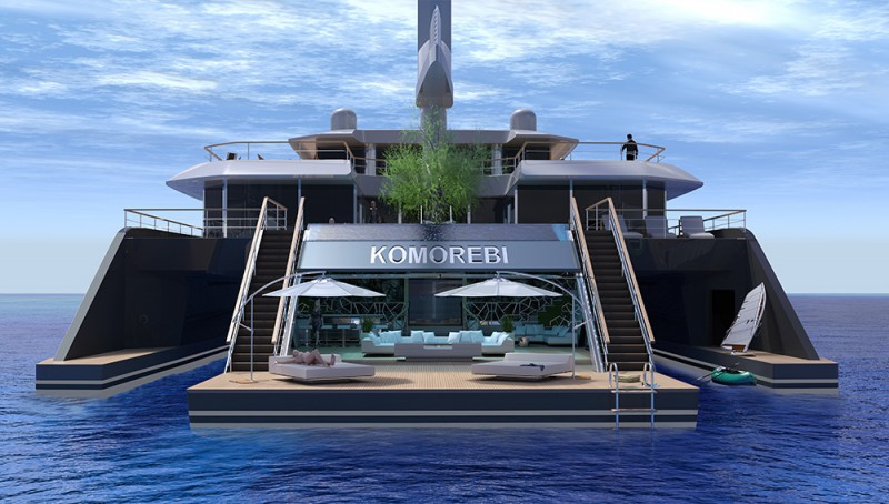 Komorebi Trimaran Superyacht Concept on Mega Luxury Yachts Floor Plans