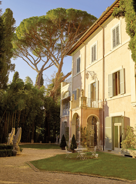 The exterior of Villa Lontana in Rome | The New York Times Photographs by Henry Bourne