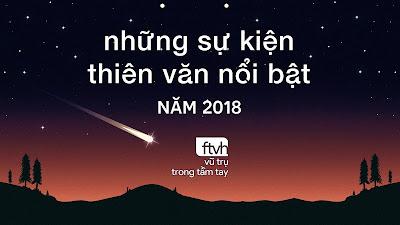 Những sự kiện thiên văn nổi bật năm 2018