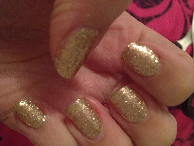 Sally Hansen Gold Glitter Nail Wraps Flutter And Sparkle