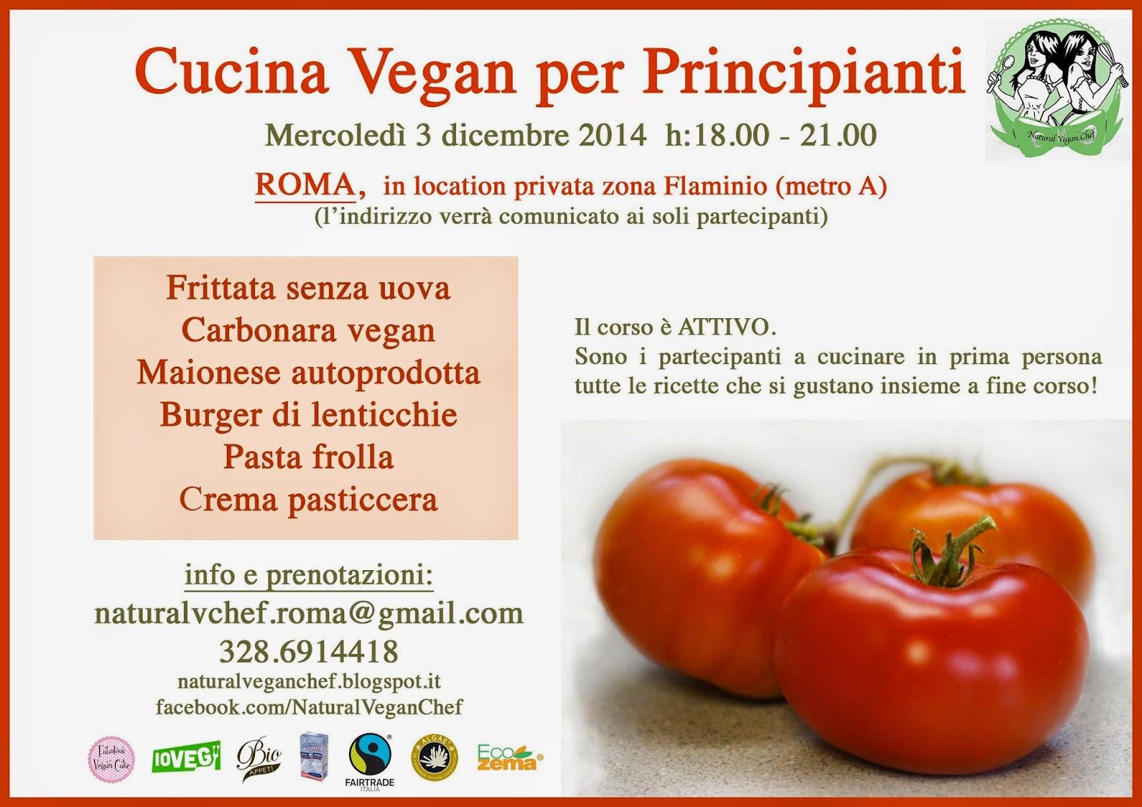 corso di cucina cucina vegan per principianti a roma
