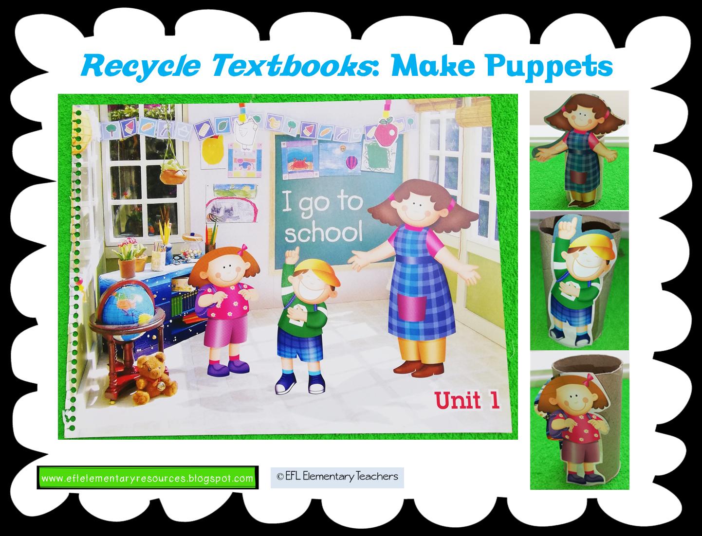 Eslefl Preschool Teachers Recycle Old Esl Early Childhood Textbooks