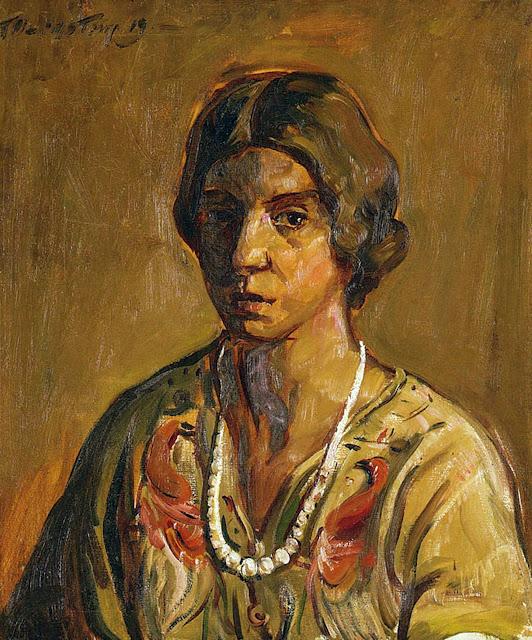 Theresa Bernstein, Self Portrait, Portraits of Painters, Fine arts, Portraits of painters blog, Paintings of Theresa Bernstein, Painter Theresa Bernstein