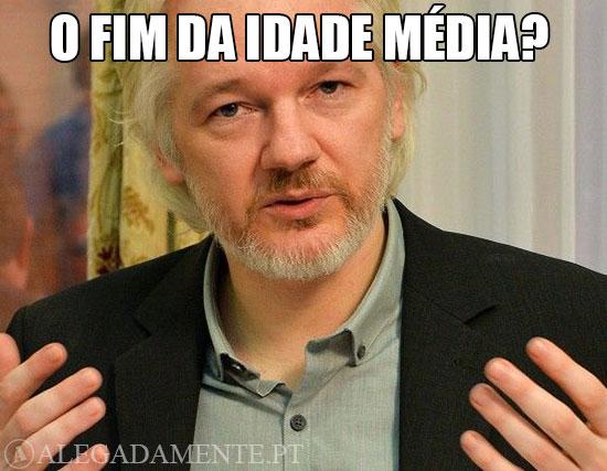 Alegadamente: Imagem de Julian Assange – O fim da Idade Média?
