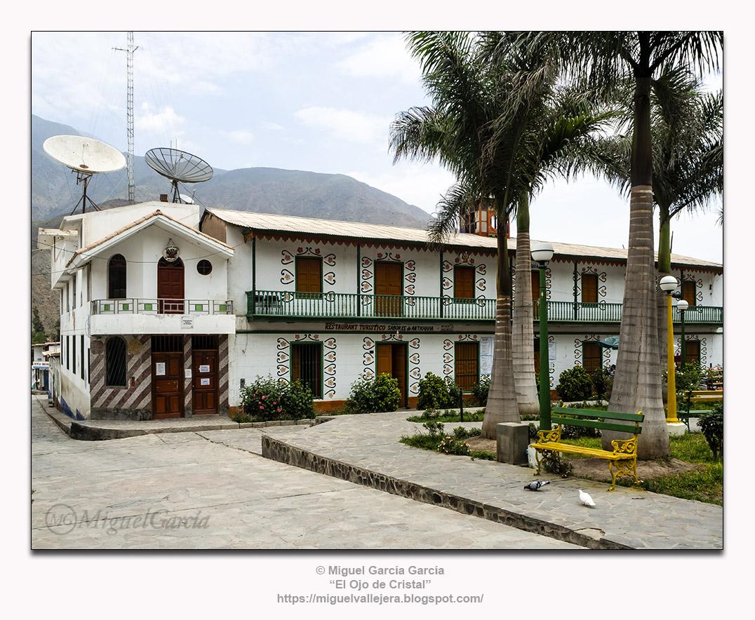 Antioquía, Huarochirí (Perú). Municipalidad Distrital y Restaurante Turístico