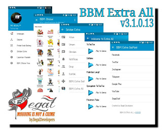 BBM MOD EXTRA ALL Original Theme v3.1.0.13 Apk [Extra Sosmed+Games+More]