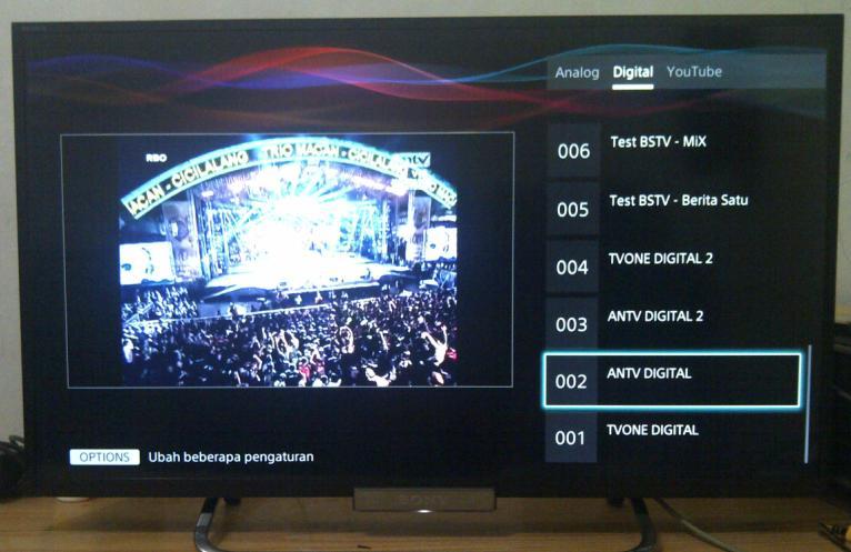 Update Televisi LED Yang Sudah Built In Digital Tuner DVB T2
