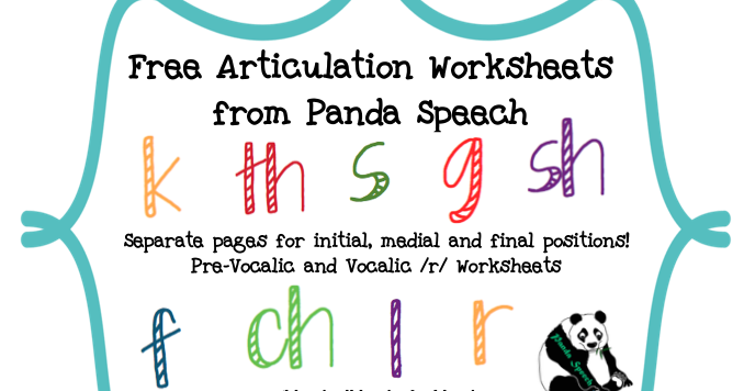 New Web Page Articulation Worksheets