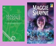 Portadas de la novela romántica paranormal El abrazo del crepúsculo, de Maggie Shayne