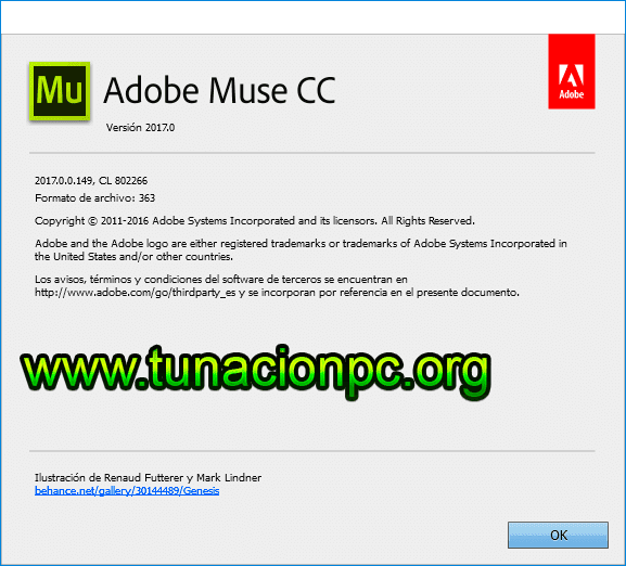 Adobe Muse CC 2017 para windows y macos multilenguaje
