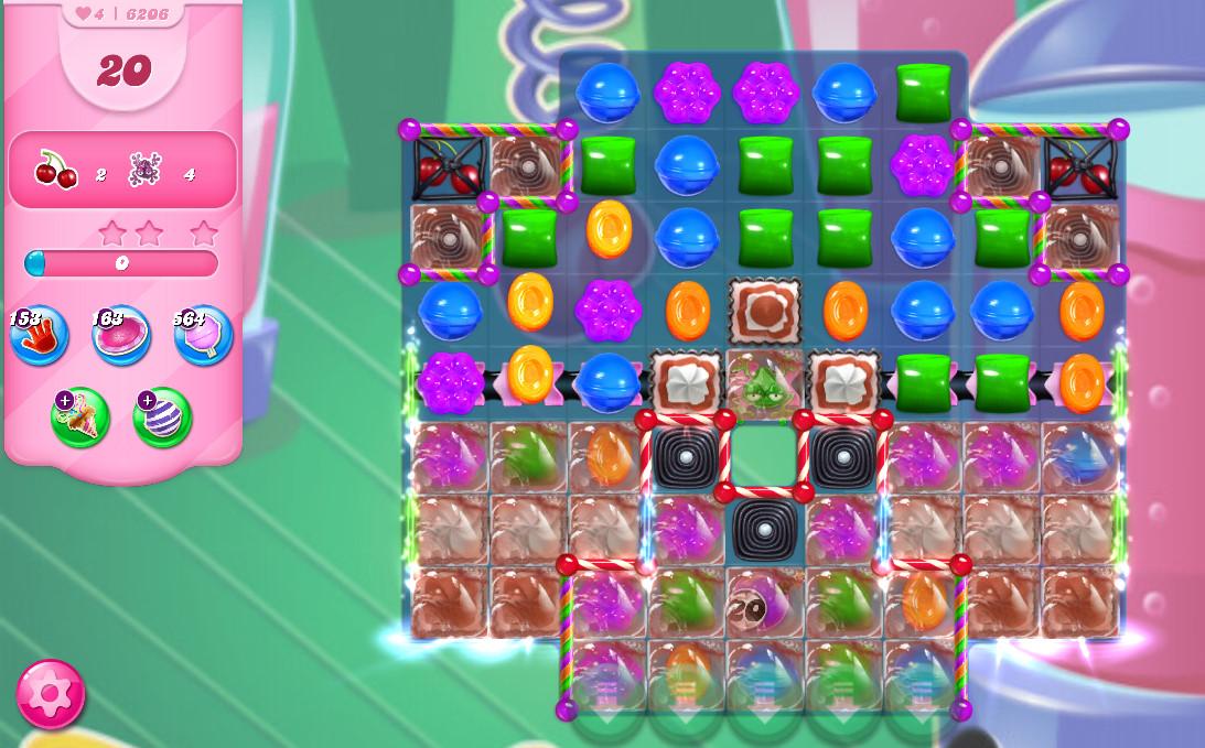Candy Crush Saga level 6206