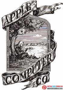 kalautau.com - Logo Apple Computer pertama kali, dibuat oleh Ronald Wayne