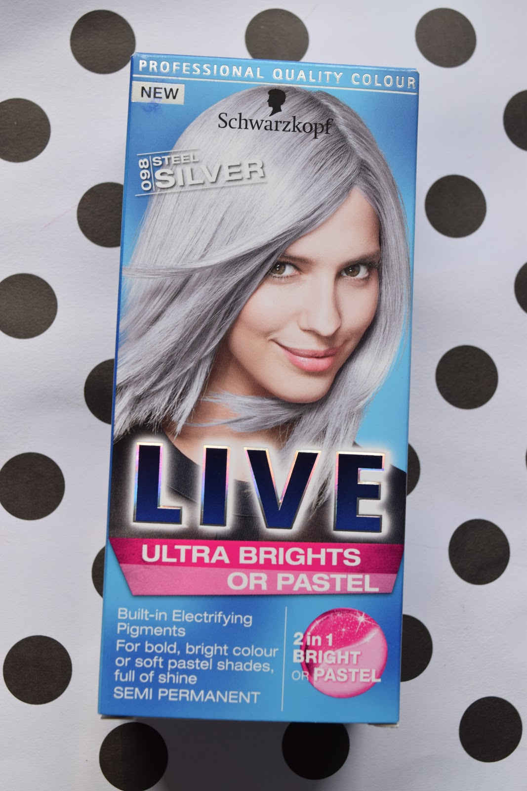 Schwarzkopf Live Steel Silver 098 review and before and after