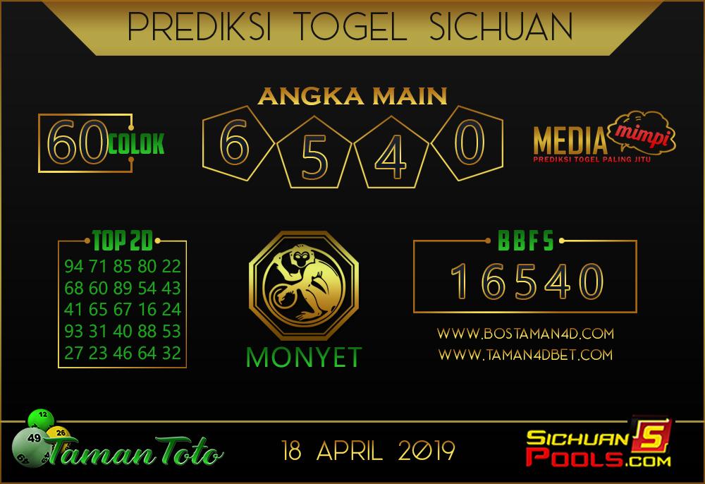 Prediksi Togel SICHUAN TAMAN TOTO 18 APRIL 2019