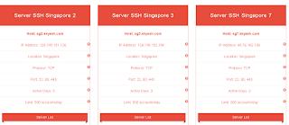 Memilih  Server SSH Singapura 3