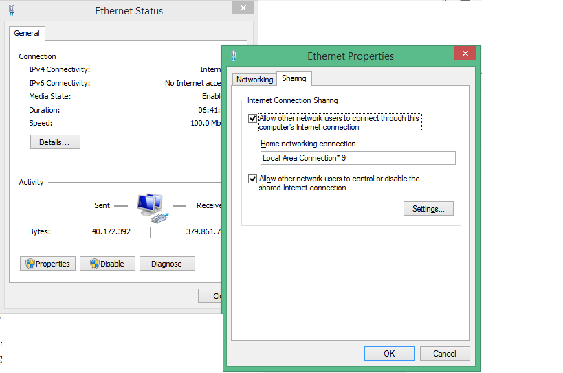 Share your internet connection via WiFi on Windows 8 1