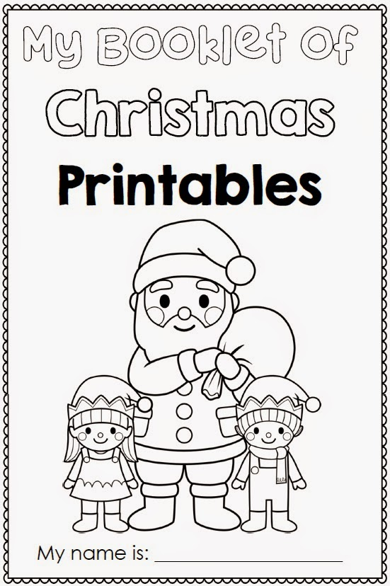 Christmas Printables - Clever Classroom Blog | christmas coloring pages  booklet