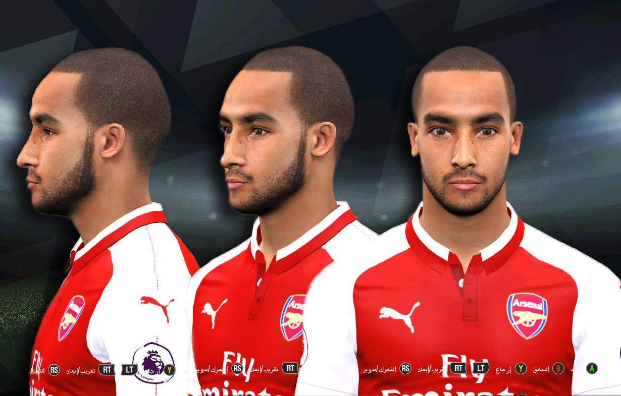 PES 2017 Theo Walcott Face by Youssef Facemaker