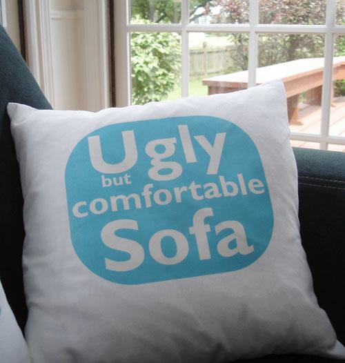 ulgy sofa pillow
