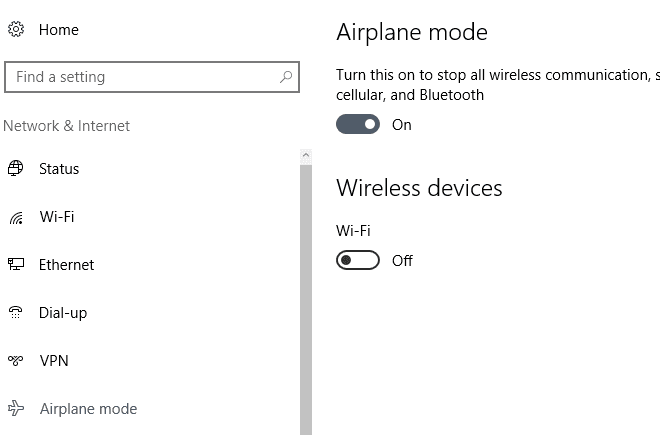 airplane Windows 10