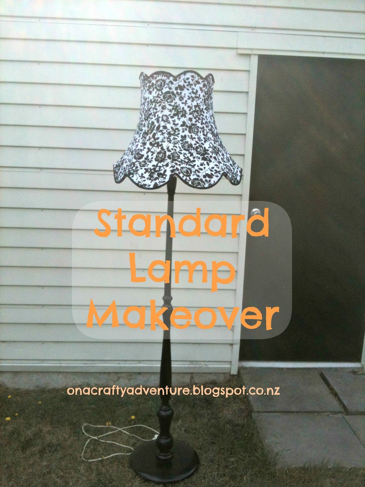 On A Crafty Adventure: Standard Lamp Makeover