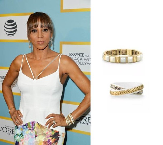 Holly Robinson Peete in Stella & Dot Bracelets