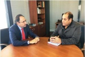 ممثل جبهة البوليساريو بمقاطعة كاستيا ليون يستقبل من طرف رئيس الفدرالية الجهوية للبلديات