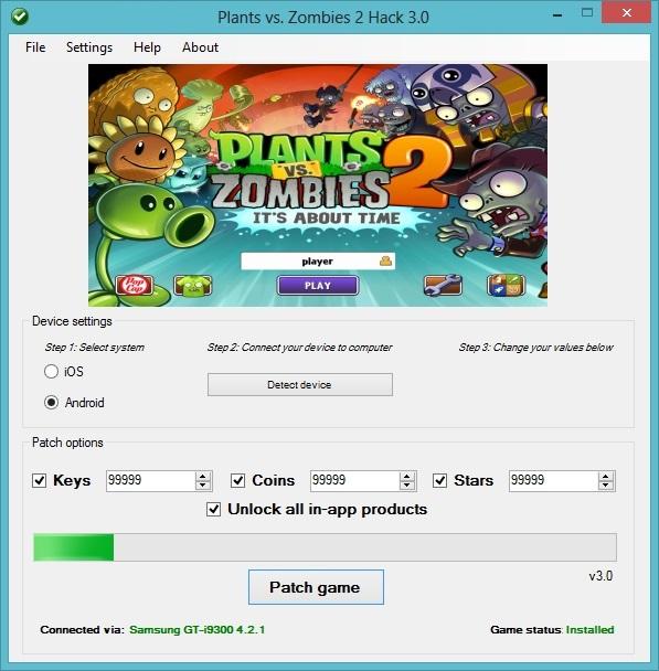 plant vs zombie 2 hack