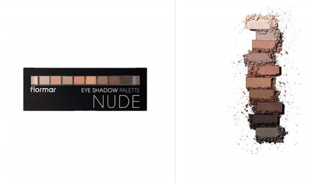 flormar nude eyeshadow palette 001