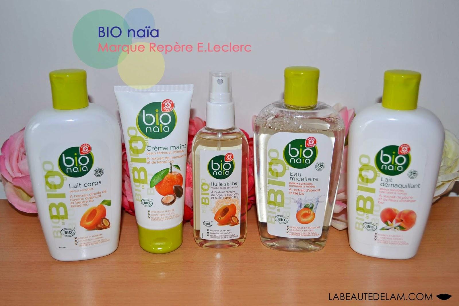 La Beaute De Lam Blog Beaute Bien Etre Culture Et Gourmandise Bio Naia La Gamme Bio Marque Repere E Leclerc Ce Qu Il Y A De Bon A Prendre