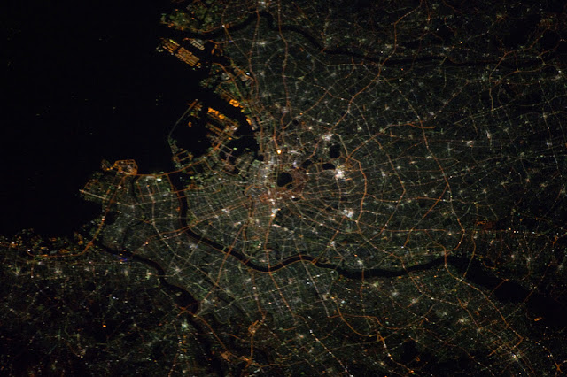 Satellite photo of Tokyo as seen from space
