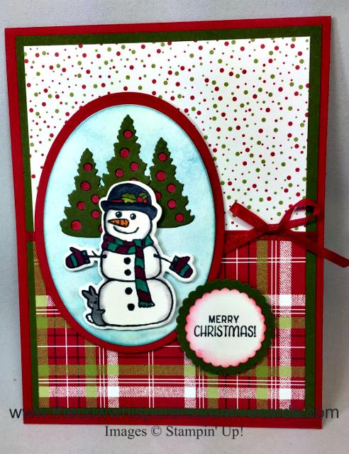 Card, Seasonal Chums, Seasonal Tags Framelits Dies, Stampin Blends