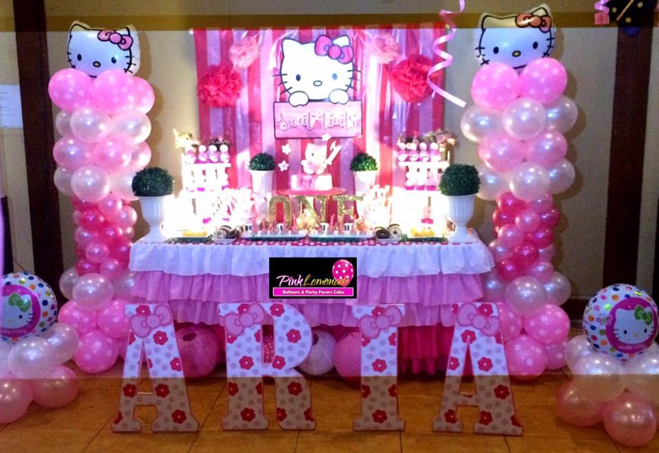 Pink Lemonade Balloons And Party Favors Cebu Hello Kitty